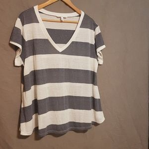 Victoria's Secret Block stripe t-shirt